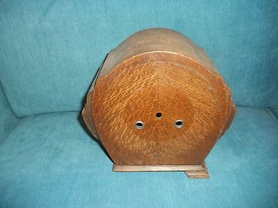 Empty Vintage Wooden Mantel Clock Case - Art Deco