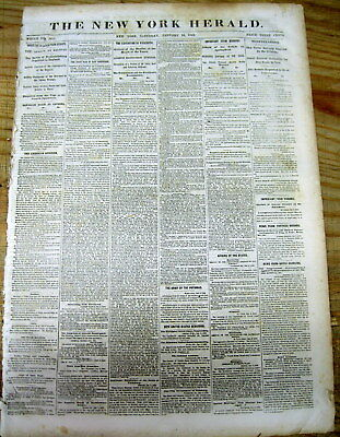 1863 Civil War newspaper KENTUCKY REJECTS Lincoln's EMANCIPATION PROCLAMATION