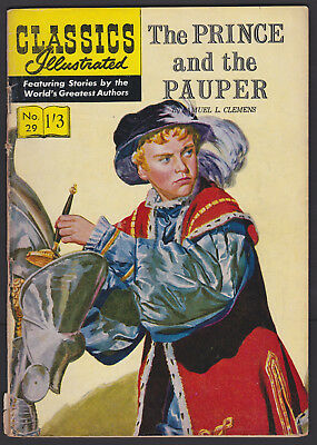 Vintage British Classics Illustrated: THE PRINCE AND THE PAUPER No.29 HRN129 1/3