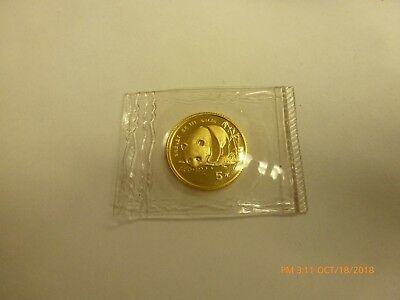 1987 Gold China Panda 20 Yuan 1/20oz Better Date see photo's In OGP #2