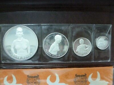 1971 Republic Dahomey Sterling Silver 4 Coin Proof Set