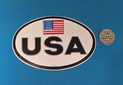1 Rare America United States Usa Flag  Bumper Window Sticker Decal Crest Emblem