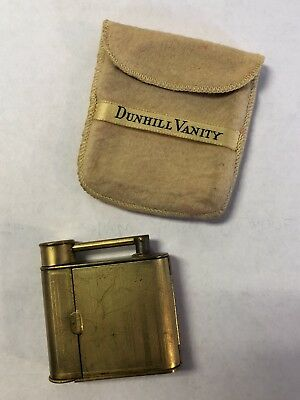 VTG Dunhill Vanity Lighter Form Mirror Lipstick Compact, RARE FIND!