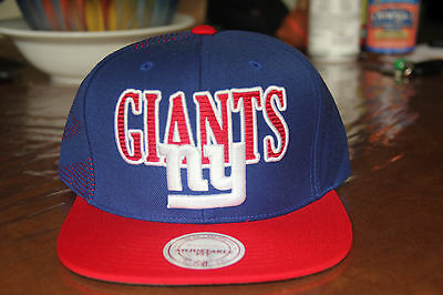d470158fe4d MITCHELL   NESS NFL NEW YORK GIANTS SNAPBACK HAT CAP 100% AUTHETIC BRAND