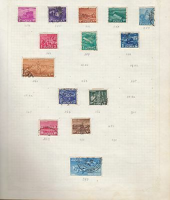INDIA Collection on Old Album Page stamps removed for shipping(ac)