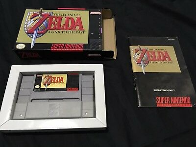 SNES Super Nintendo - Legend of Zelda: A Link to the Past (1991) With Manual