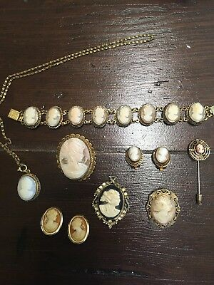Beautiful Vintage Cameo Lot