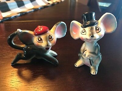 Vintage Comical Big Ear Mice Salt & Pepper Shakers mouse Japan