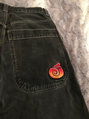 Vtg Jnco Clasic Edition Twin Cannon Black Cut Off Shorts 34W Streetwear