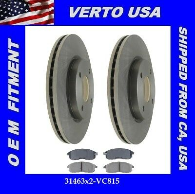 OE Replacement 2009 2010 2011 2012 Fits Nissan Cube Rotors Ceramic Pads F