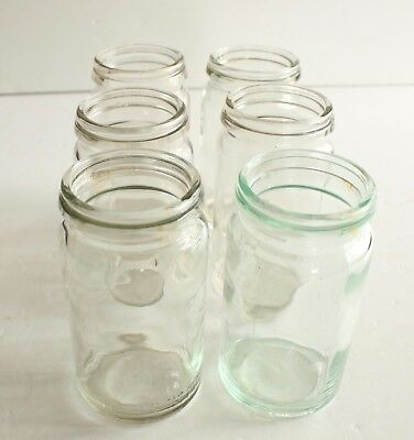 Vintage Fowlers Vacola Glass Preserving Jars No.  20 x 6