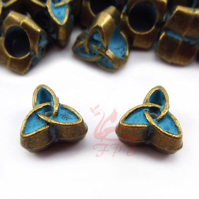 Celtic Trinity Knot 10mm Antiqued Bronze Large Hole Spacer Beads - 8/15/30PCs