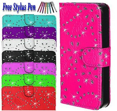 Bling Glittery Leather book Wallet Flip Case Cover For Samsung Galaxy S7 Edge UK