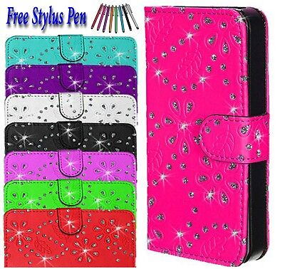 Bling Glittery Leather book Wallet Flip Case Cover For Samsung Galaxy S7 UK