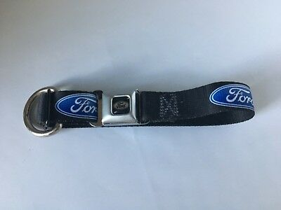 Ford Oval Seatbelt Belt Dog Collar Small (15lbs -40lbs) Seat Belt Material