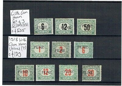 #454 Fiume 1918 MINT Postage Dues c£654 on card (10)
