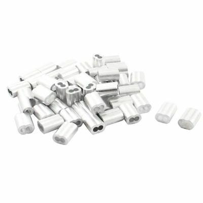 Wire Rope Aluminum Sleeves Clip Fittings Cable Crimps ( 100pcs) U5U1