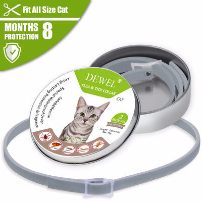 US Dewel Anti Flea & Tick Mosquitoe Collar For CATS Treatment 8 Month Protection