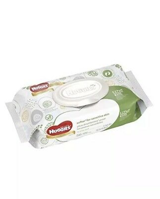 HUGGIES Natural Care Baby Wipes Disposable Soft Packs, 56 ct