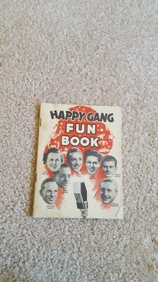 1940s Happy Gang Radio Fun Book Stars Illustrated Booklet Colgate Palmolive ads