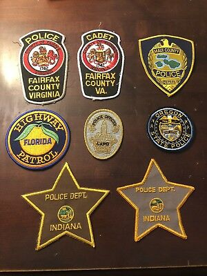 Assortment of Police Patches (8)