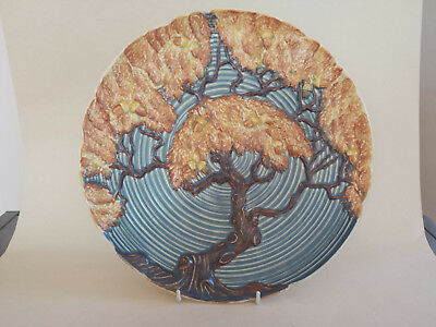 Beautiful Art Deco Large Carlton Ware Blue Night Oak Charger/Plate