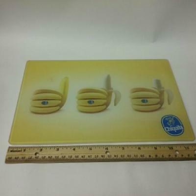 Original Chiquita Banana Glass Cutting board Thumbs Up Advertising or Promo EUC
