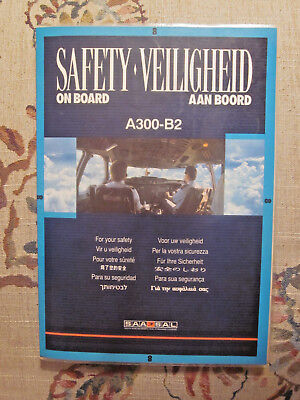 Rare Safety Card - South African Airways A-300-B2