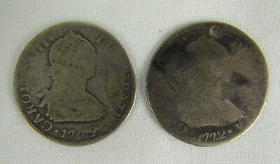2 - 1772 2 Reales Silver Coins