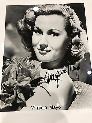 Virginia Mayo Signed Authentic Autographed 8x10 Photo PSA//DNA #W62536