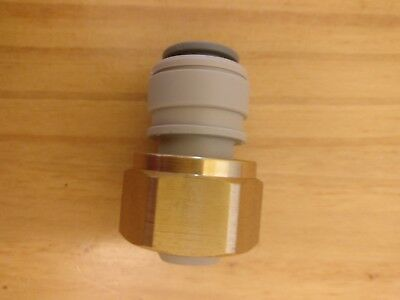 John Guest keg beer coupler outlet adaptor 3/8 x1/2 fitting