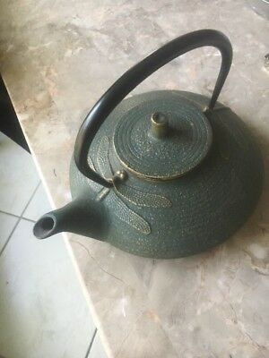 Japanese  Metal Teapot (Old Vintage Japan Alloy Cast Iron Tea Signed Mark Marked