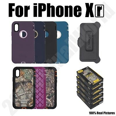 NEW Otterbox DEFENDER Case Rugged Protection Belt Clip for Apple iPhone Xr