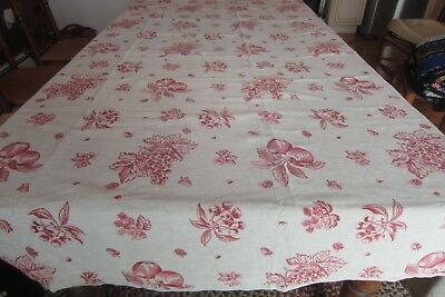 Le Telerie Toscane Italy Tablecloth 100% Cotton Fruit Red Cherries 63X73 Rn79343