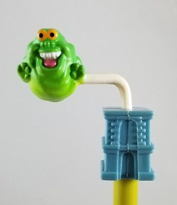 Vintage Ghostbusters PENCIL TOPPER Slimer Spin Toy 1987