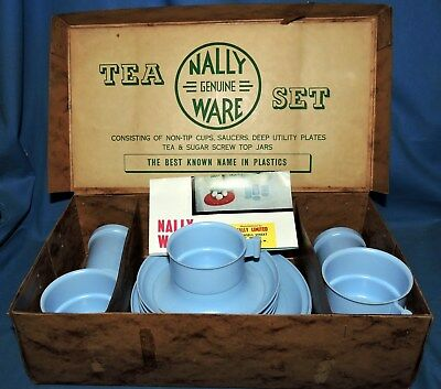 A Rare Nally Ware Utility Tea Set In Original Box