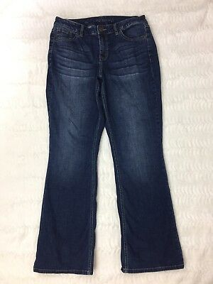 Lane Bryant Womens Jeans Size 14 Regular Mid Rise Boot Cut Dark Denim Whiskered