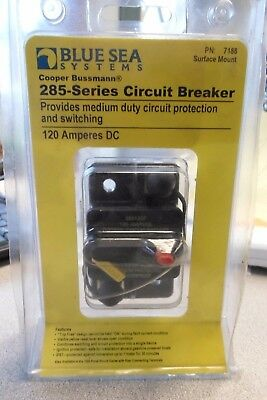 Marine Bussmann 285-Series Circuit Breaker - Surface Mount 120A Blue Sea 7188