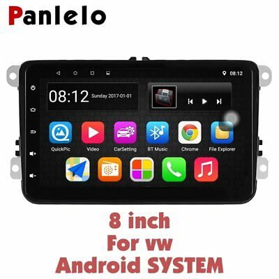 Panlelo S8 for VW Android Autoradio GPS Navigation 8 inch  AM/FM/R.D.S Radio SWC