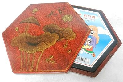 Red Painted Decoration Box  - Free Chinese Checkers Set (CCC-R)