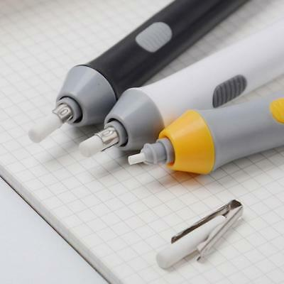 Handy Electric Battery Operated Pencil Eraser Rubber Out Pen + Refills Gift new