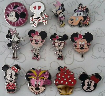 Minnie Mouse Nerd Cupcake Hidden Mickey Cute Disney Trading Pin Make a Set Lot