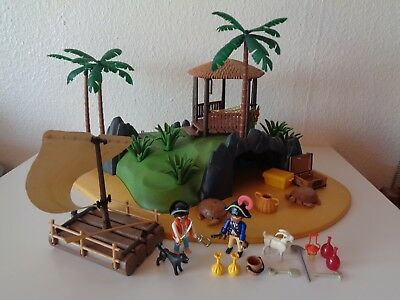 Playmobil 3799 usw. Piraten Große Schatzinsel Pirateninsel mit Piraten-Floß