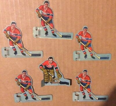 1950's Eagle Toys Table Hockey Players - Montreal Canadiens Nice Set