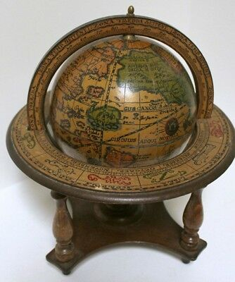 Vintage Zodiac Astrology Desktop Globe Made In Italy Old World Style World Globe