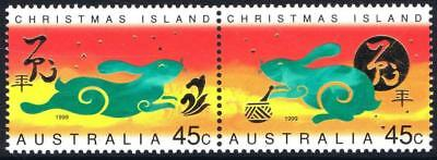 1999 Christmas Island - Year of the Rabbit  - MNH Pair