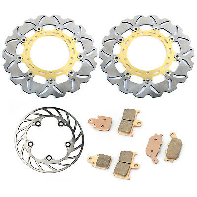 310mm+220mm Front Rear Brake Discs Rotors+Pads For Yamaha YZF R1 2007-2014 NEW
