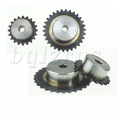 2x 25H/04C/2 Chain Drive Sprocket Pitch 45 Steel 10-15 Tooth Spur Gear With Step
