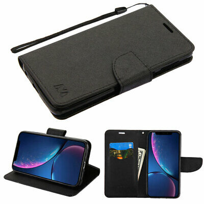 For Apple iPhone XR Leather Wallet Card Pouch Slot Magnet Flip Fold Case Cover
