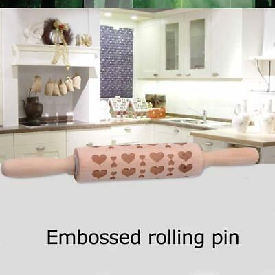 New Christmas Rolling Pin Engraved Rolling Pin Embossed Rolling Pin 2018